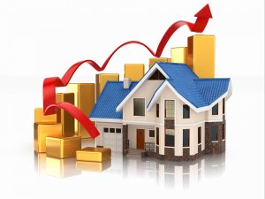 Growth of real estate market graph, house covered under a home warranty GA