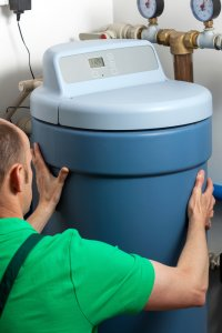Instalation of a water softener in boiler room