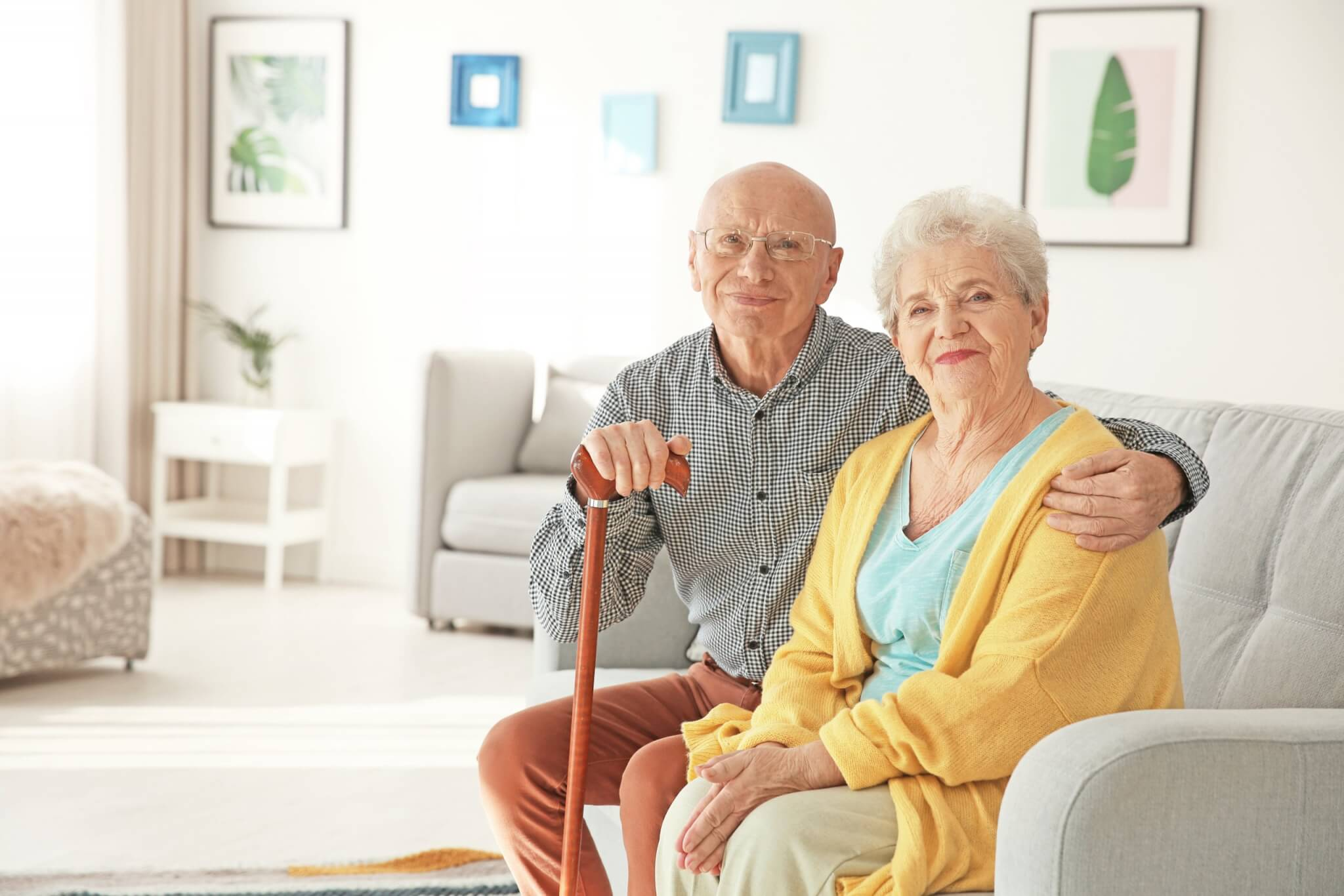 Senior citizens enjoying their home with home warranty protection